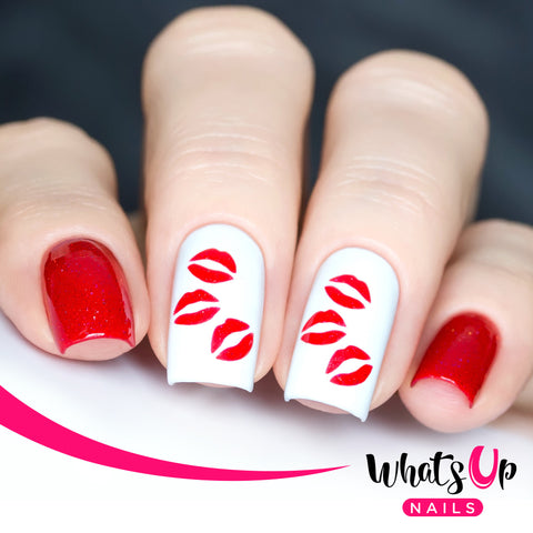 Whats Up Nails - Kisses Stencils