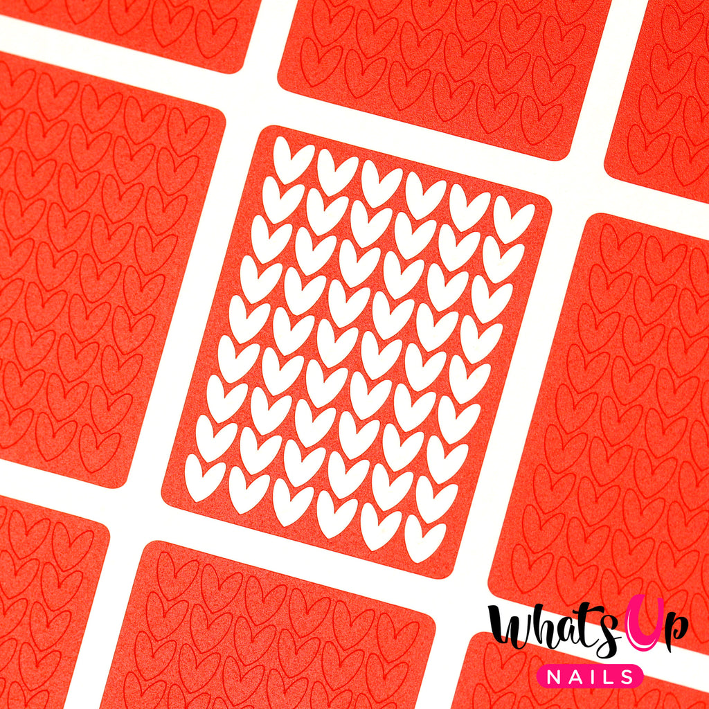 Whats Up Nails - Knitting Stitches Stencils