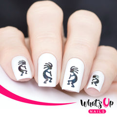 Whats Up Nails - Kokopelli Stencils