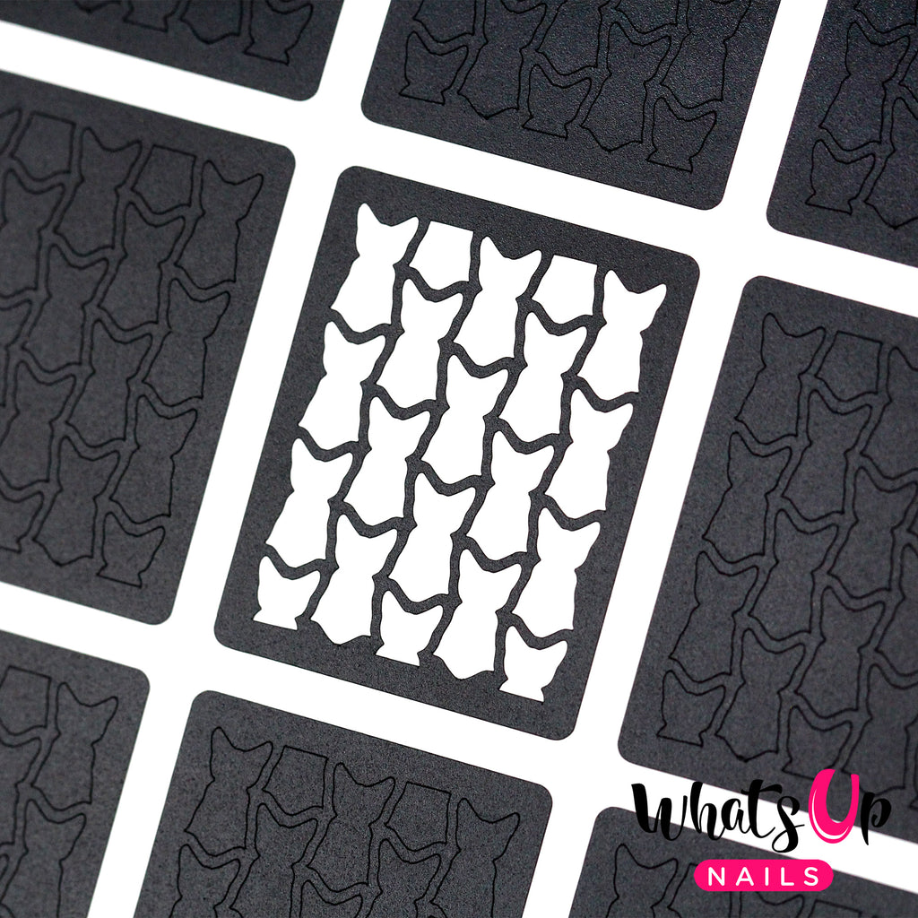 Whats Up Nails - Le Chat Noir Stencils