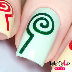 Whats Up Nails - Lollipop Stencils