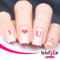 Whats Up Nails - Love Letters Stencils