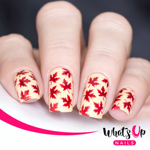 Whats Up Nails - Maple Leaves Stencils