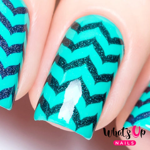 Whats Up Nails - Marbled Zig Zag Stencils