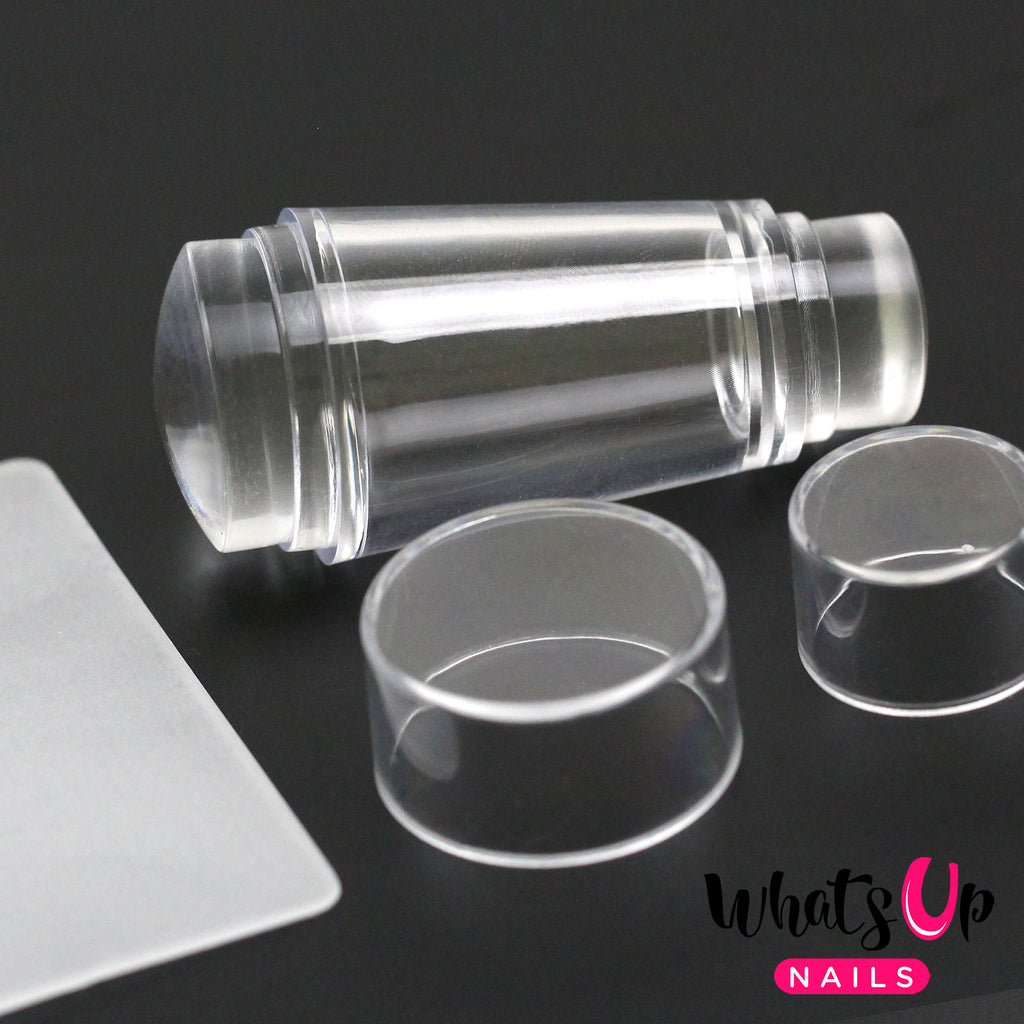 Whats Up Nails - Mini Double Sided Clear Stamper & Scraper