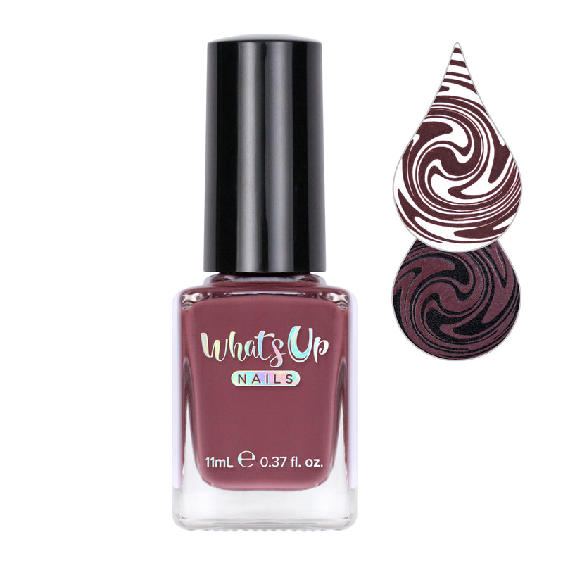 Whats Up Nails - You Mocha Me Happy Stamping Polish
