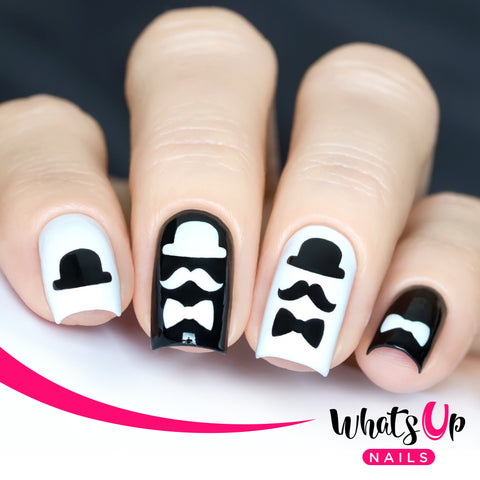 Whats Up Nails - Movember Stencils