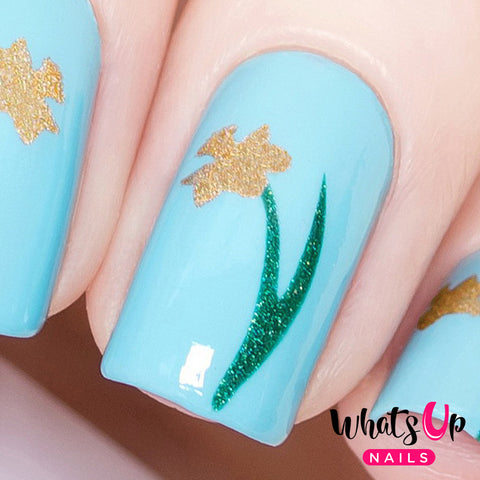 Whats Up Nails - Narcissus Stencils