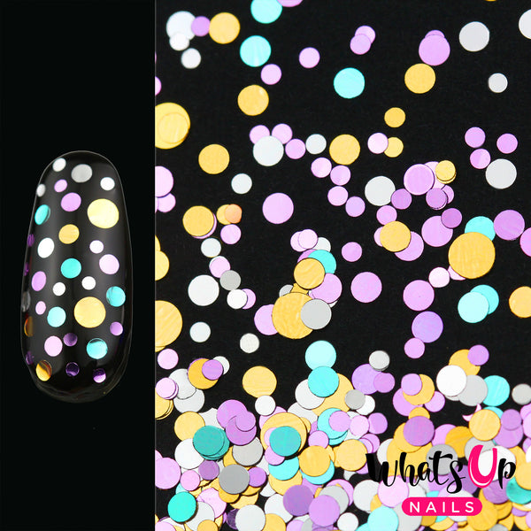 Whats Up Nails - Neapolitan Confetti