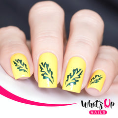 Whats Up Nails - Oak Leaf Stencils
