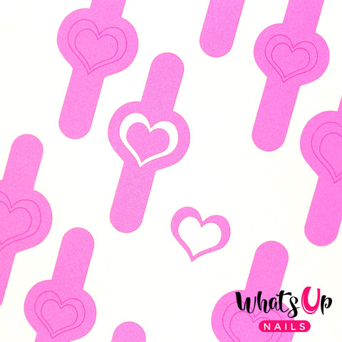 Whats Up Nails - Open Heart Stencils