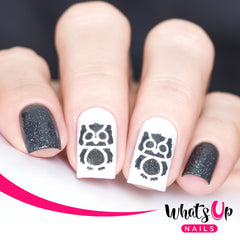 Whats Up Nails - Owl Stencils