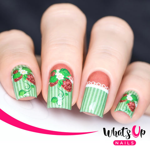 Whats Up Nails - P002 Strawberry Fancy, Green Water Decals