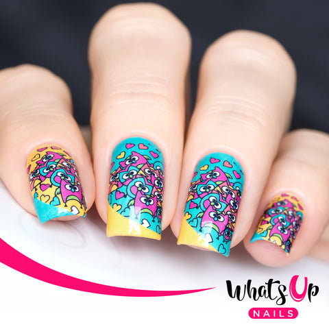 Whats Up Nails - P004 Hoot Do You Love, Blue Water Decals