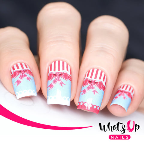 Whats Up Nails - P005 Primped and Polished Water Decals