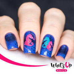 Whats Up Nails - P006 I Sea Horses Water Decals