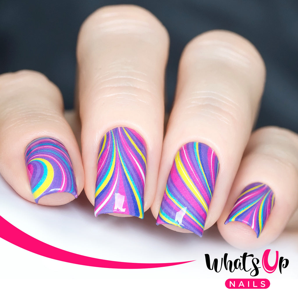 Whats Up Nails - P012 Groovy Watermarble Water Decals