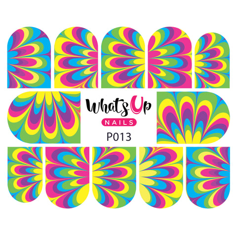 Whats Up Nails - P013 Neon Petal Watermarble Water Decals
