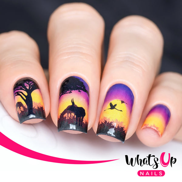 Whats Up Nails - P014 Safari At Sunset Water Decals