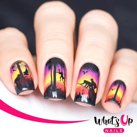 Whats Up Nails - P016 Hangin' at Sunset Water Decals
