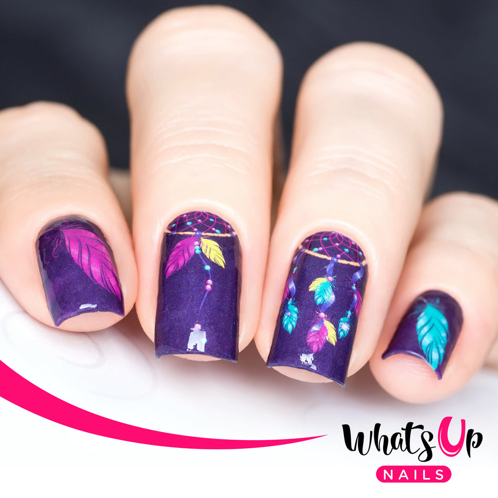 Whats Up Nails - P018 Purple Dreams Water Decals