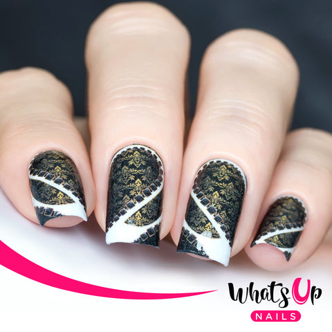 Whats Up Nails - P021 Damask Me Water Decals