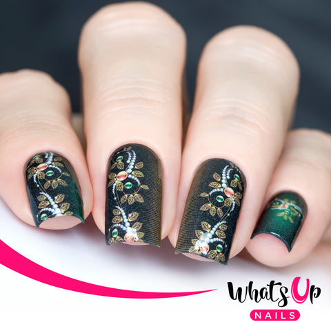 Whats Up Nails - P022 Jeweled Vines Water Decals