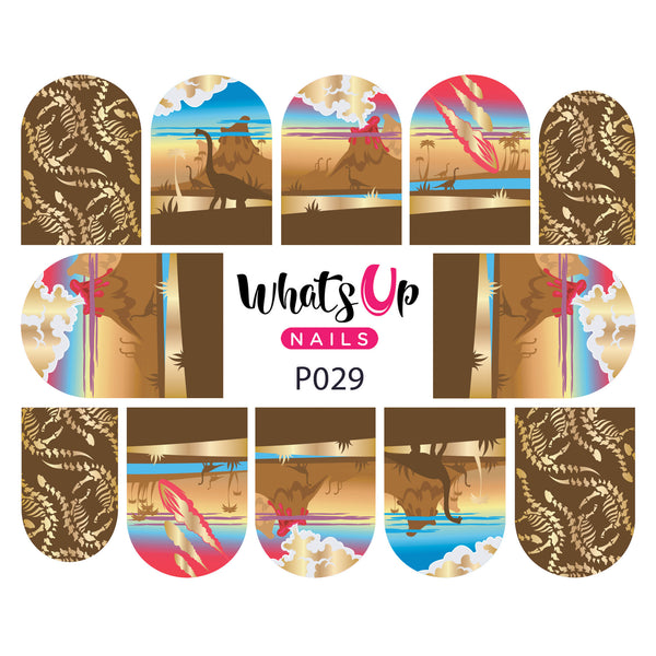 Whats Up Nails - P029 Prehistoric Times Water Decals