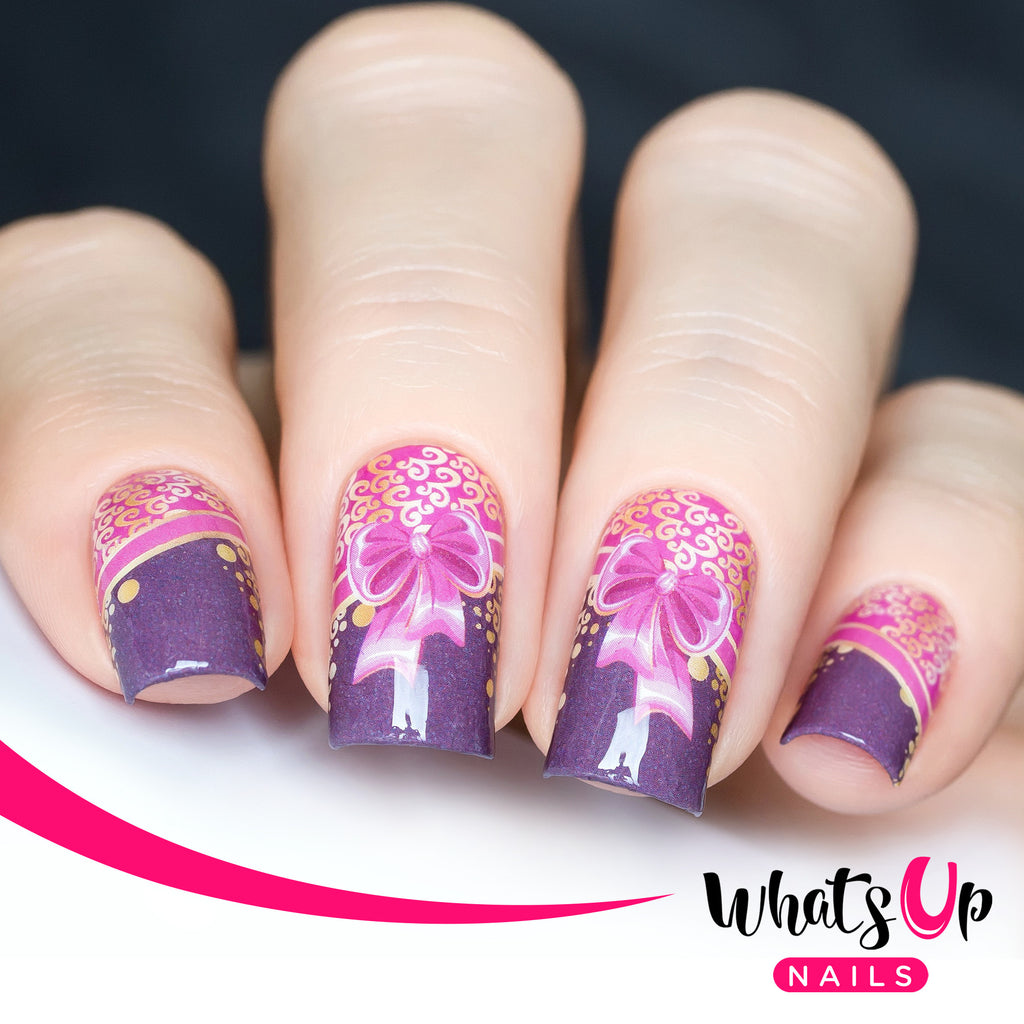 Whats Up Nails - P030 Gussied Up in Pink Water Decals