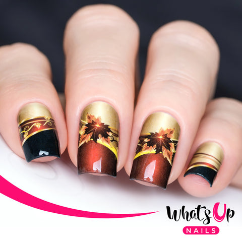 Whats Up Nails - P033 Fall Charms Water Decals