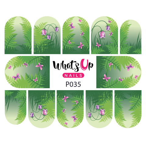 Whats Up Nails - P035 Spring Medley Water Decals