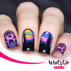 Whats Up Nails - P036 Moonlit Night Scare Water Decals