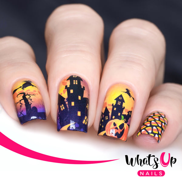 Whats Up Nails - P038 Witch's Treats Water Decals