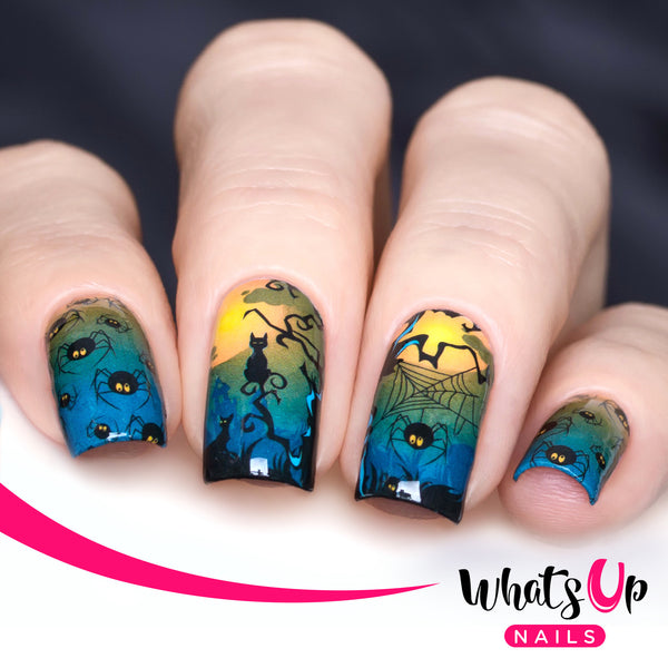 Whats Up Nails - P039 Spider Invaders Water Decals