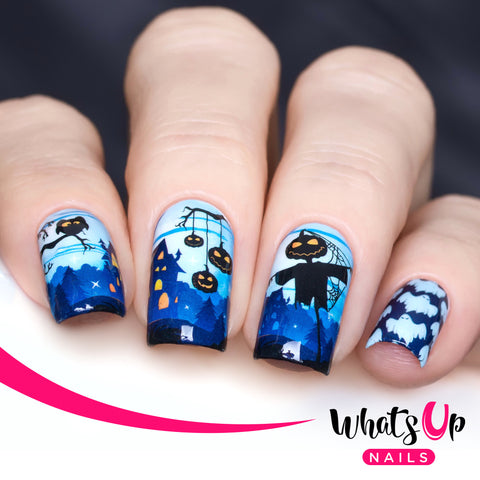 Whats Up Nails - P040 Jack and the Ghouls Water Decals