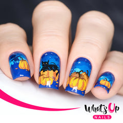 Whats Up Nails - P041 Pumpkin Patch Nightmare Water Decals