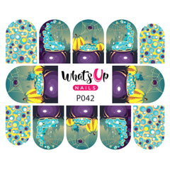 Whats Up Nails - P042 Bubbly Cauldrons Water Decals