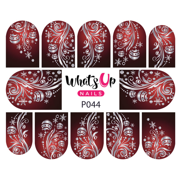 Whats Up Nails - P044 Elegant Ornaments Water Decals
