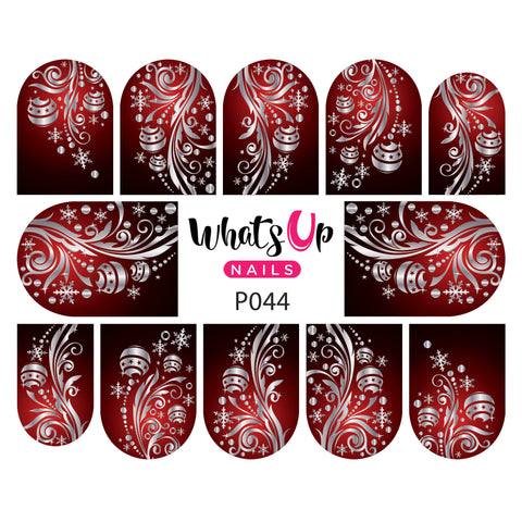 Whats Up Nails - 9 Christmas Water Decals ($24.75 Value)