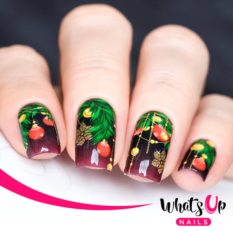 Whats Up Nails - P046 Decorated December Water Decals