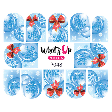 Whats Up Nails - P048 Chillin' Snowflakes Water Decals