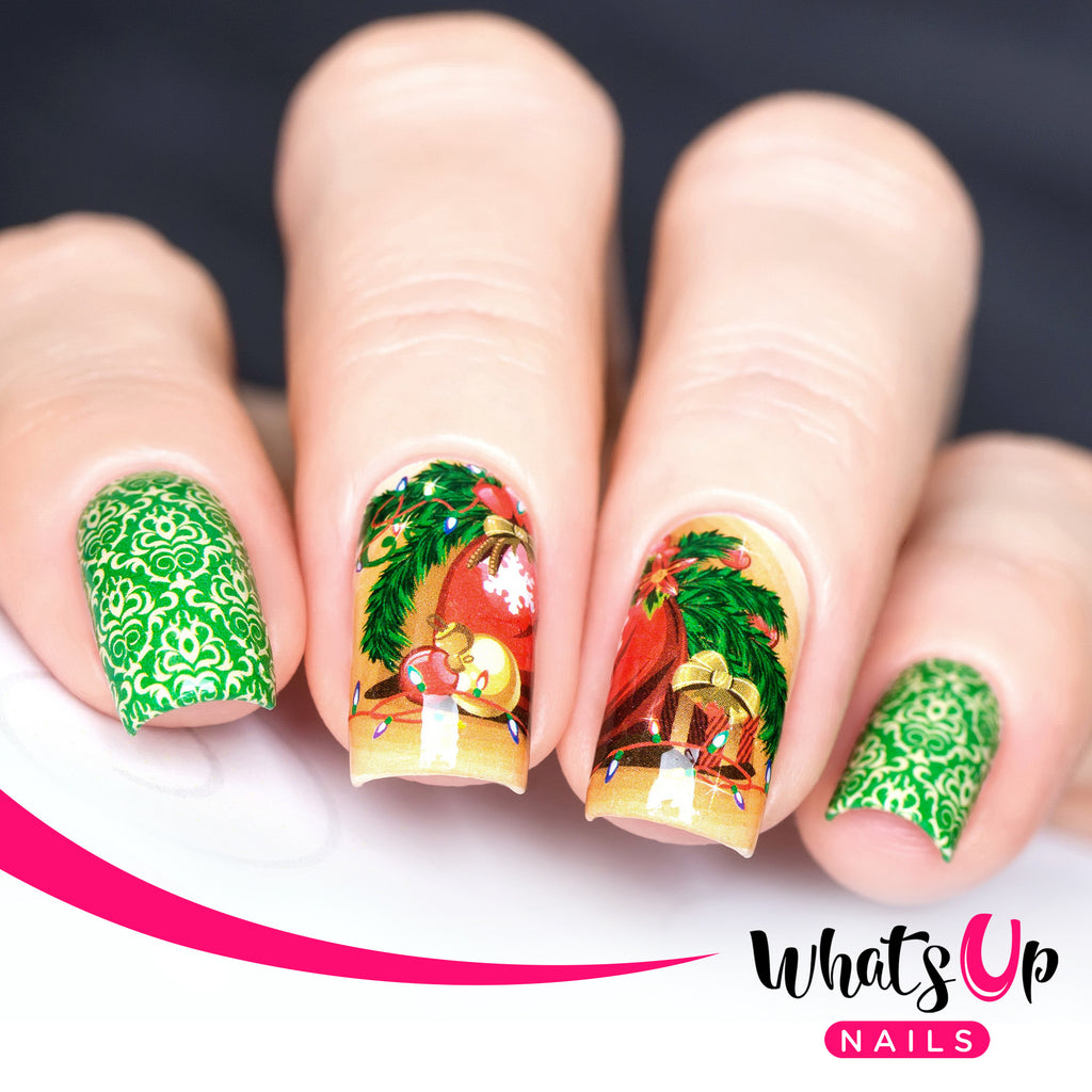 Whats Up Nails - P050 Holiday Spirit Water Decals