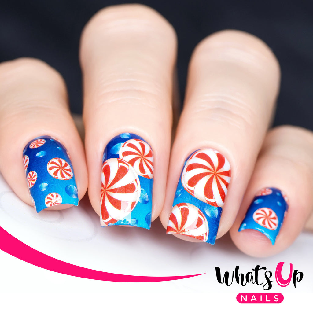 Whats Up Nails - P052 Pepperminty Water Decals