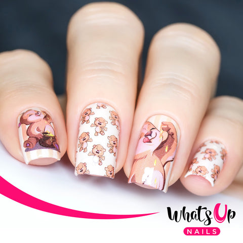 Whats Up Nails - P054 Bears Love Honey Water Decals
