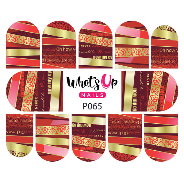 Whats Up Nails - P065 Revealing Ribbons Water Decals