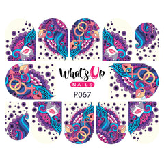 Whats Up Nails - P067 P.S. I Love You Water Decals