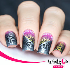 Whats Up Nails - P068 Wrought Iron Roses Water Decals