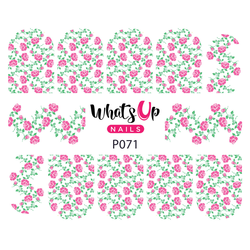 Whats Up Nails - P071 Dainty Blooms Water Decals