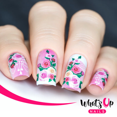 Whats Up Nails - P072 Roses of Temptation Water Decals