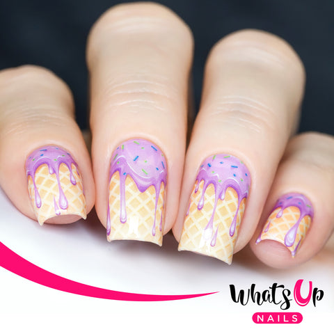 Whats Up Nails - P081 Yum Yum Ice Cream Water Decals